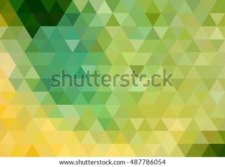 Abstract green vector background. triangles pattern.