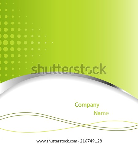 Abstract green vector background with copyspace - stock vector