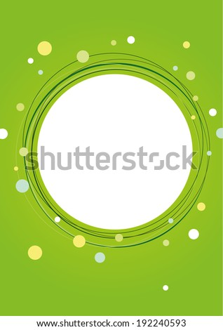 Abstract green vector circles background