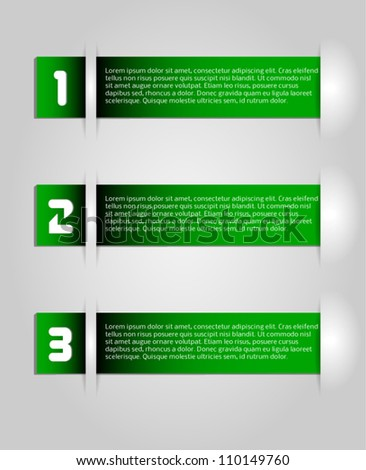 abstract green vector tags