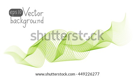 Abstract green wave for Your design