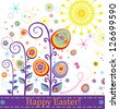 Abstract greeting easter card - stock vector