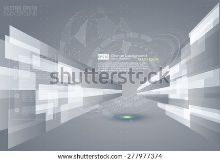 Abstract grey background. Vector. - stock vector