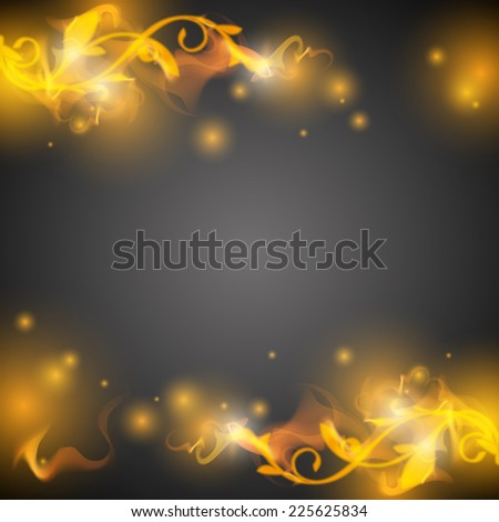 abstract grey background vector with fire - stock vector