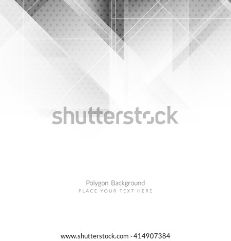 Abstract grey color modern polygon background - stock vector