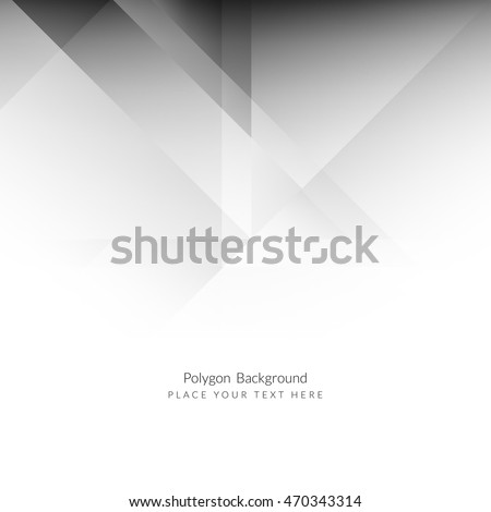 Abstract grey color polygon background design