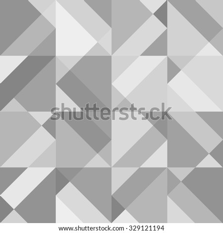 Abstract grey geometric seamless pattern. Vector background - stock vector