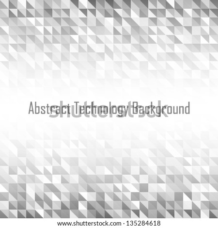 Abstract Grey Geometric Technology Background, vector illustration - stock vector