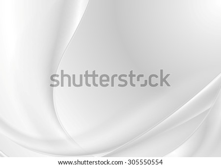 Abstract grey pearl elegant waves. Vector background