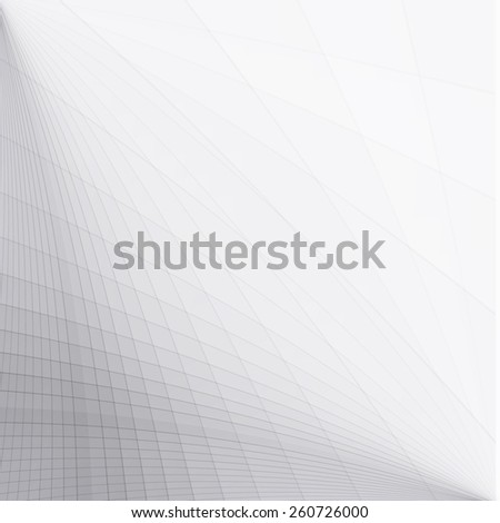 Abstract grey perspective background - stock vector