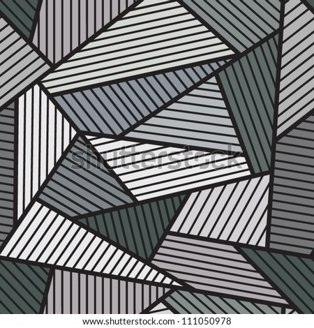 Abstract grey seamless pattern. - stock vector