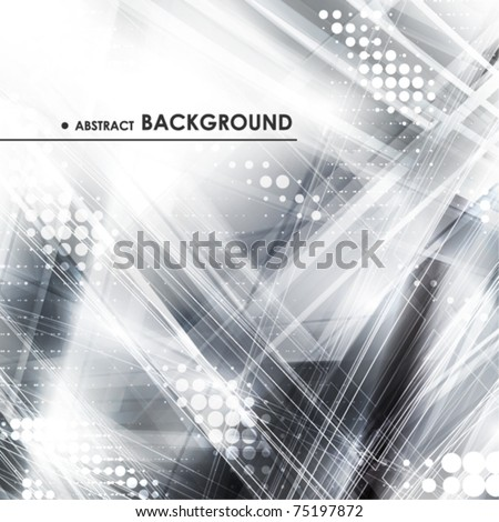 Abstract grey tech card with lighting effect. Vector - stock vector