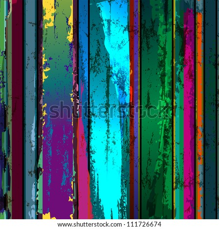 abstract grunge background composition, paint strokes and splashes - stock vector