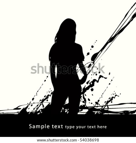 abstract grunge background design - stock vector