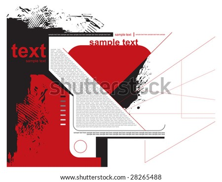 Abstract grunge background vector - stock vector