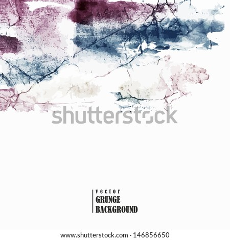 Abstract grunge background. Watercolor vintage background. Urban style. Crumpled paper with watercolor spots. - stock vector