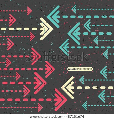 Abstract grunge background with arrows. Vector illustration