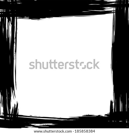 Abstract grunge background with brush frame