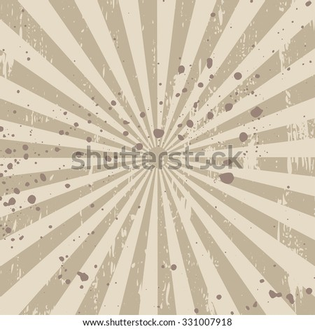 Abstract grunge background with radial stripes. EPS - stock vector