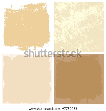 abstract grunge backgrounds with old paper texture - stock vector