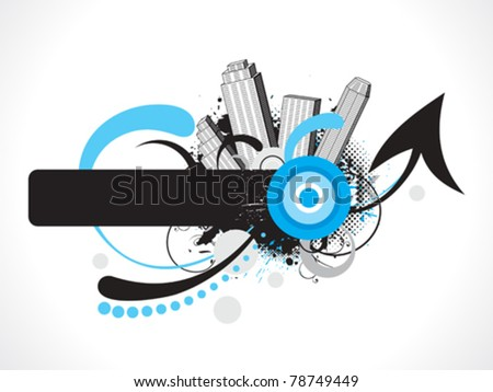 abstract grunge based creative design vector illustration - stock vector
