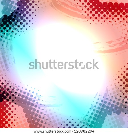 Abstract Grunge colorful Halftone vector illustration pattern background - stock vector