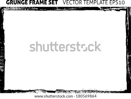 Abstract grunge frame. Background vector texture - stock vector