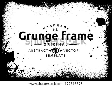 Abstract grunge frame. vector template - stock vector