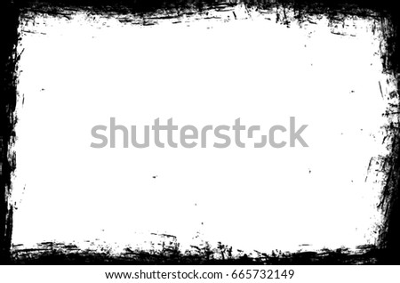 Abstract Grunge Frame Distressed Edges Vector Stock Vector 665732149 ...