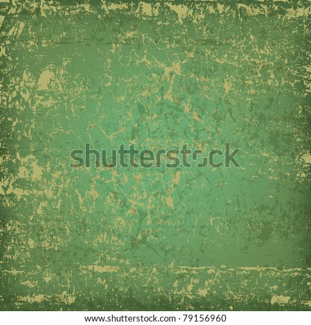 abstract grunge green background dirty wooden plank - stock vector