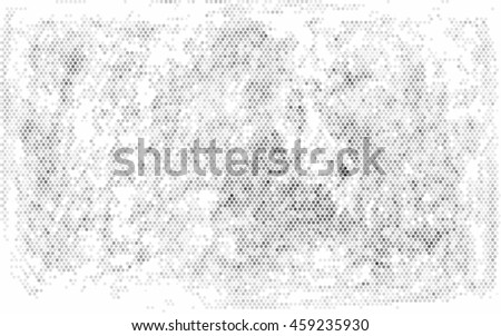 Abstract grunge grid polka dot background pattern. Spotted line vector illustration - stock vector