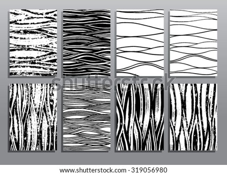 Abstract grunge hand drawing textures. Vector illustration set. - stock vector