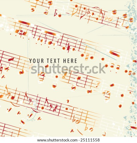 Abstract grunge musical background. Vector - stock vector