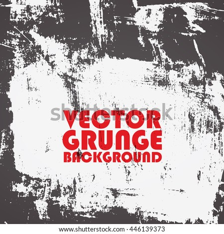 Abstract grunge painted texture. Vector.