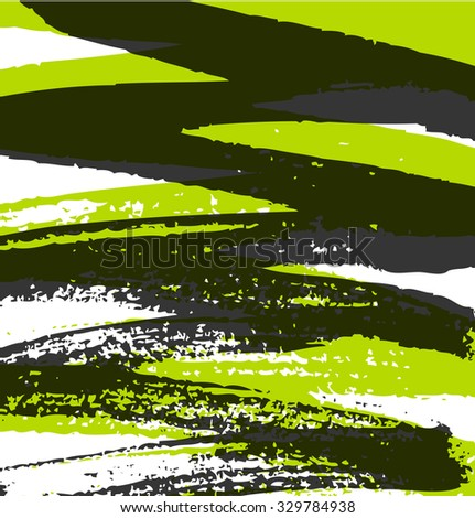 Abstract grunge pattern with paint ink lines. Vector background with stylish paint strokes - stock vector