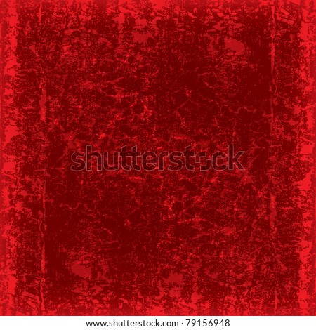 abstract grunge red background dirty wood plank - stock vector