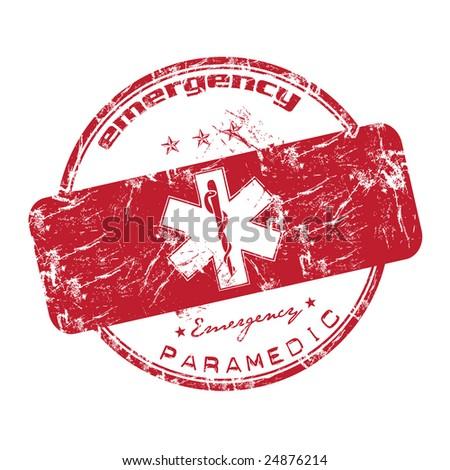 Emergency stamp — Stock Vector © roxanabalint #4133702