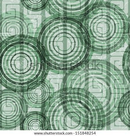 Abstract grunge seamless background made of set of rings, vector illustration, eps10, 4 layers, easy editable!BONUS!!Three seamless patterns in one!! - stock vector