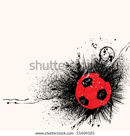 abstract grunge soccer background design - stock vector