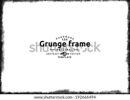 Abstract grunge splash frame.  Vector template - stock vector