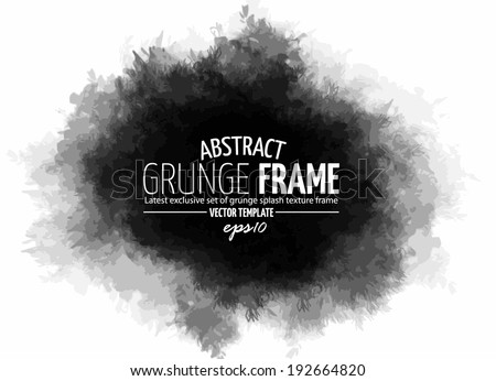 Abstract grunge splash with space for text.  Vector template - stock vector