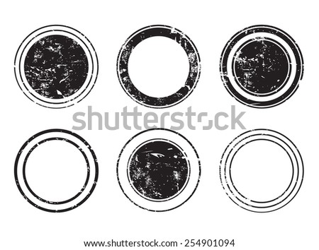 Abstract grunge stamp set.Vector illustration. - stock vector