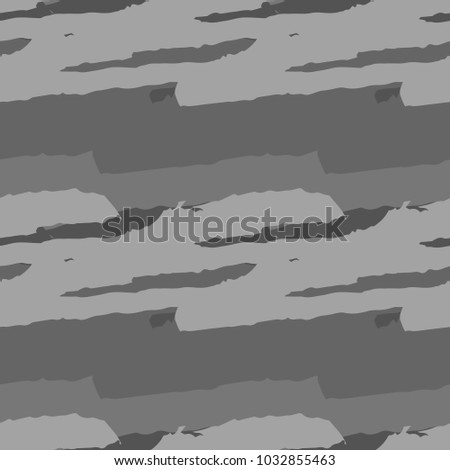 Abstract Grunge Stripped Grey Seamless Pattern Or Army Camo Usable As Gray Urban Camouflage With
