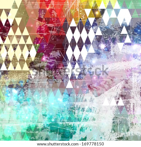 Abstract grunge style background with distressed effect - stock vector
