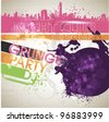 abstract grunge text line vector background for party - stock vector