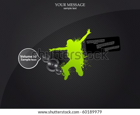 Abstract grunge the poster Background. Vector. - stock vector