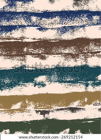 Abstract grunge vector background. Color composition of irregular rounded overlapping elements. Created using handmade watercolor painting. - stock vector