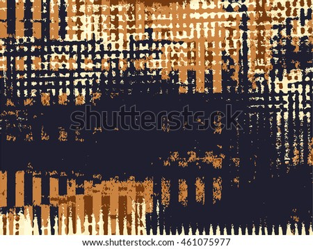Abstract grunge vector background. Color raster composition of irregular overlapping shapes created using handmade camera-less photographic print.