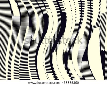 Abstract grunge vector background. Monochrome composition of irregular geometric overlapping elements. - stock vector