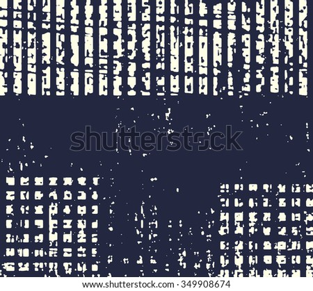 Abstract grunge vector background. Monochrome composition of irregular geometric shapes